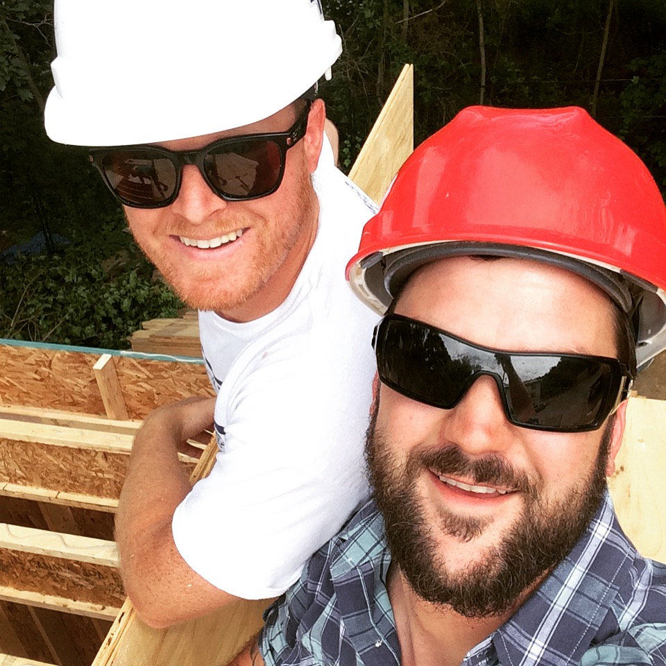 Sam and Jeff at the Habitat Build